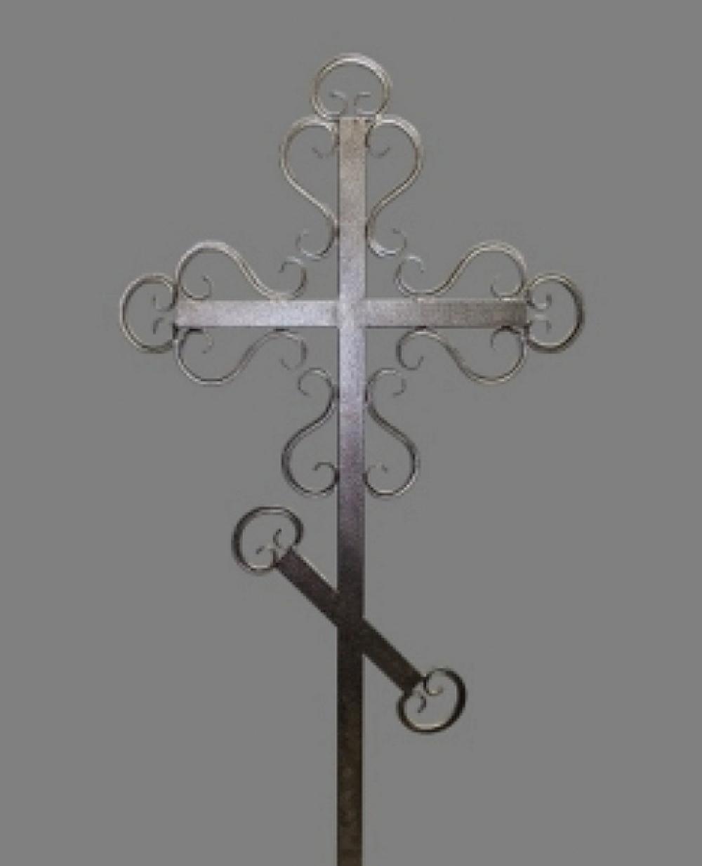 Крест на могилу кованный №3 Астериум порошок