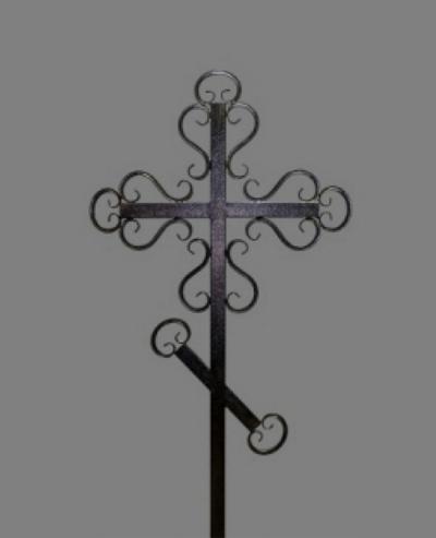 Крест на могилу кованый №3 Астериум